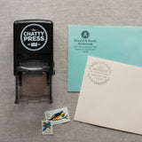 Leaf Wreath - Self-inking Stamp