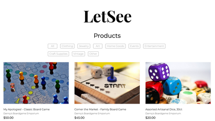 LETSEE – ONLINE MARKETPLACE