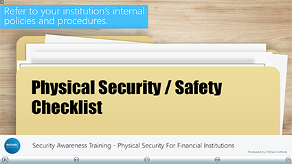 Physical Security for Financial Institutions