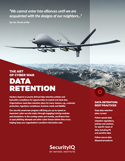 The Art of Cyber War: Data Retention
