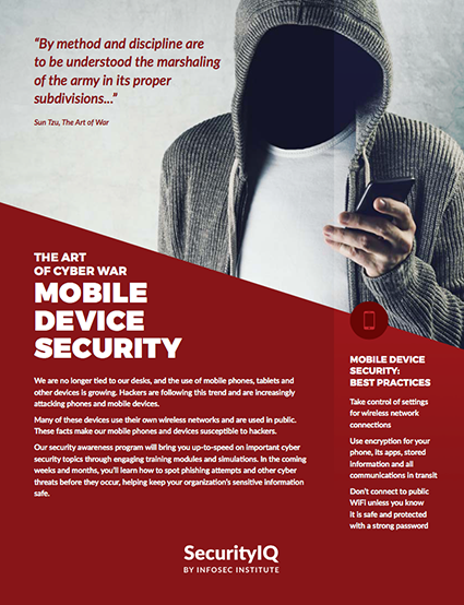 The Art of Cyber War: Mobile Device Security