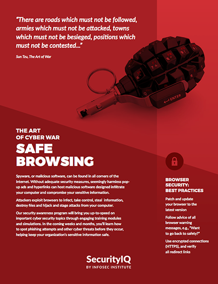 The Art of Cyber War: Safe Browsing Posters
