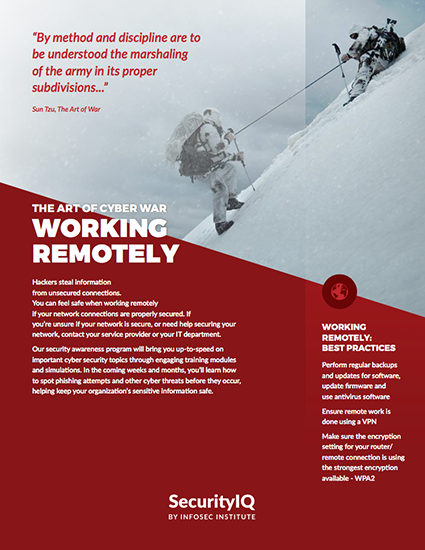 The Art of Cyber War: Working Remotely