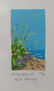 To the Beach II serigraph print