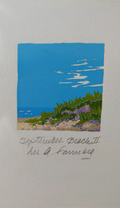 September Beach II serigraph print
