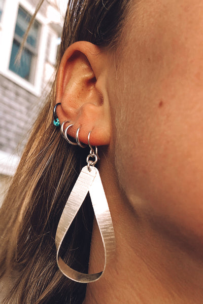 sterling loop earring
