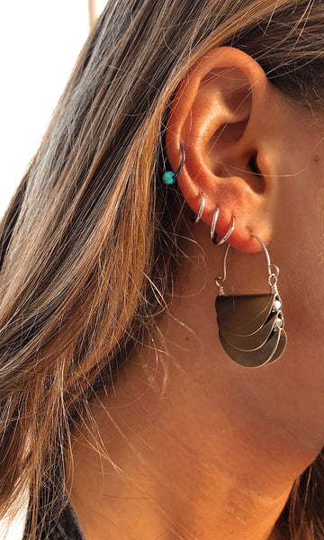 sterling taco shell earring