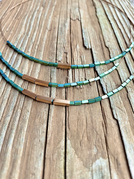 3 layer bead necklace