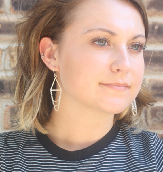 draping triangle earring