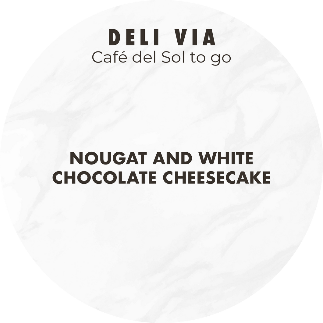 Nougat and White Chocolate Cheesecake