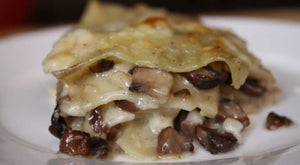 Porcini Mushrooms and Brie Cheese Lasagne