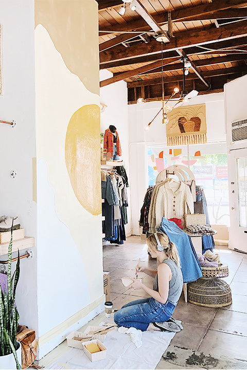 Behind the Scenes: Codie Connor Mural at Prism Boutique