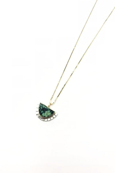 Peacock Turquoise Selene Necklace