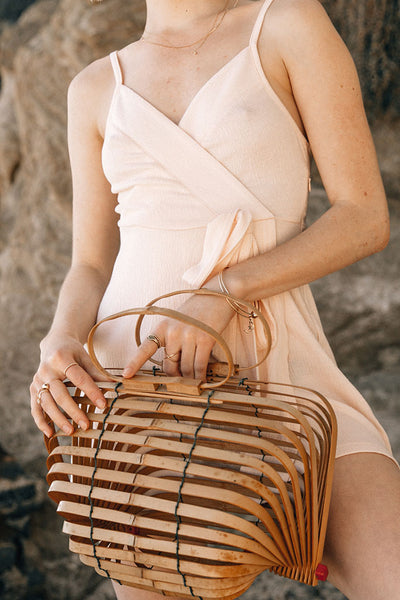 Japanese Collapsible Bamboo Bag