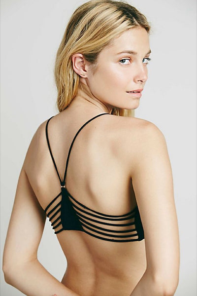 Black Strappy Side Bra