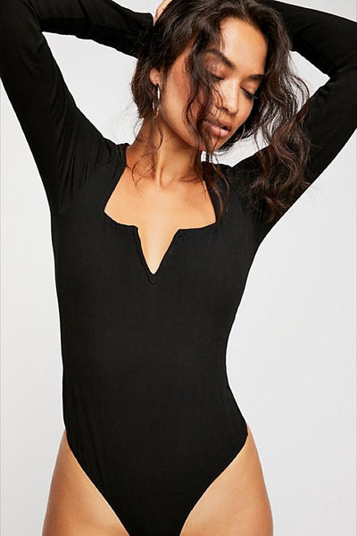 Black Zoe Bodysuit