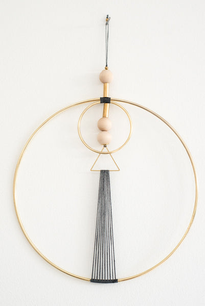 Charcoal Brass Geo Wall Hanging