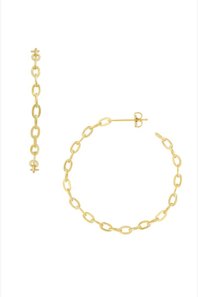 Gold Alicia Hoops