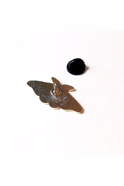 Black Moth Pin