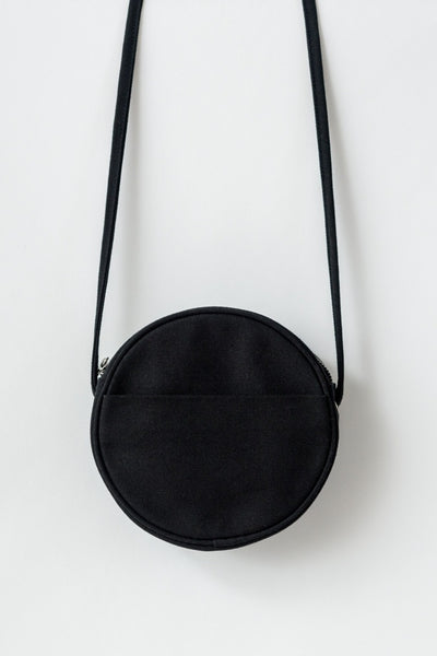 Black Canvas Circle Purse