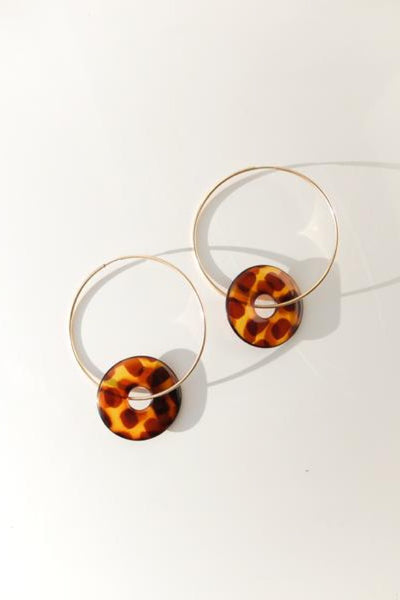 Gold Tortoise Hoops