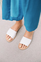 White Leather Cabana Sandal