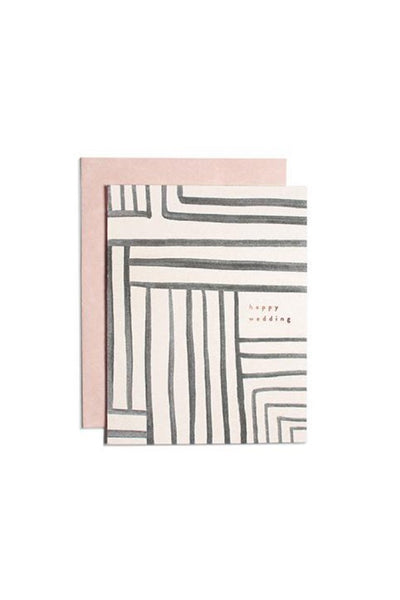 Wedding Stripe Card