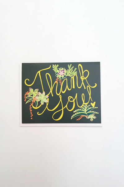 Thank You Succulents Card
