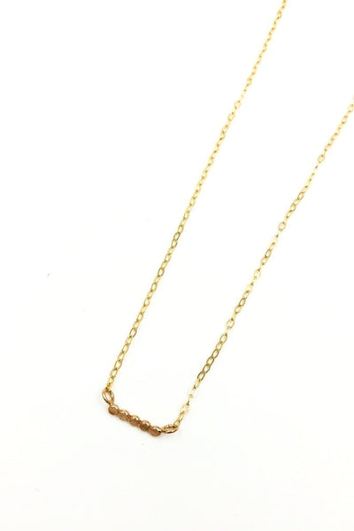 Gold Petite Dot Necklace