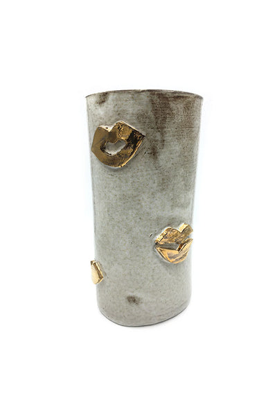 Gold Snow Tall Kiss Vase