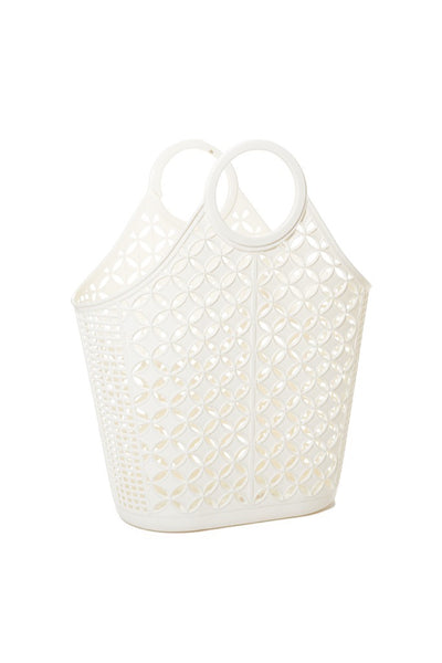 Cream Atomic Tote