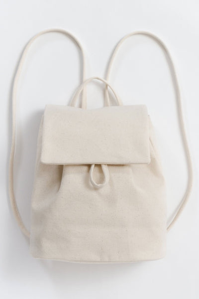 Natural Canvas Mini Backpack