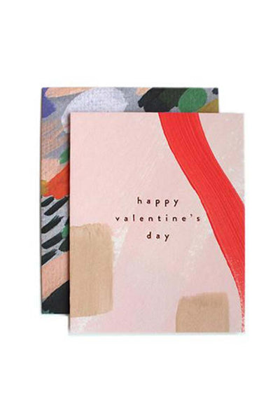 Color Stroked Valentine's Day Card