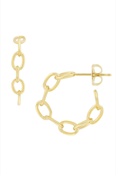 Gold Mariah Hoops
