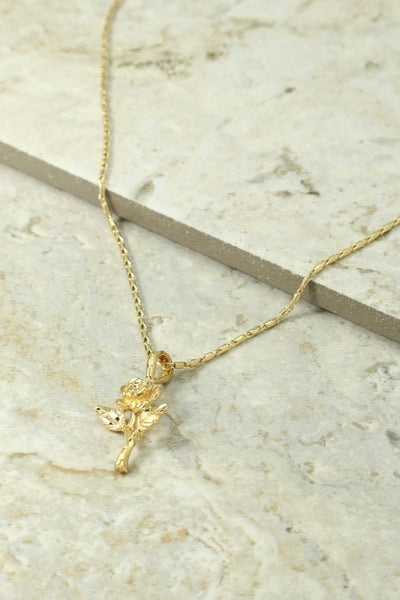 Little Rose Charm Necklace