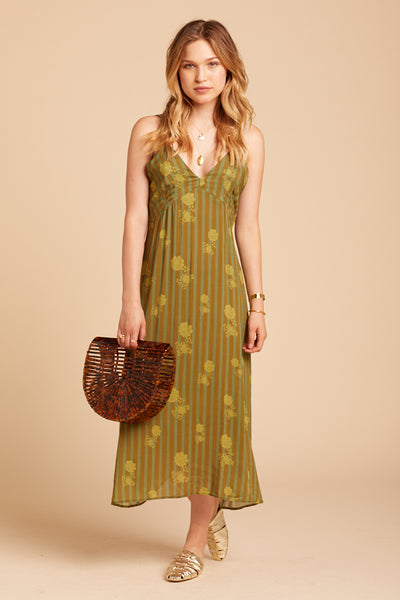 Verde Stripe Summerland Dress
