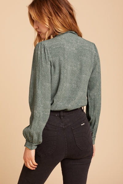 Green Spot Heidi Blouse