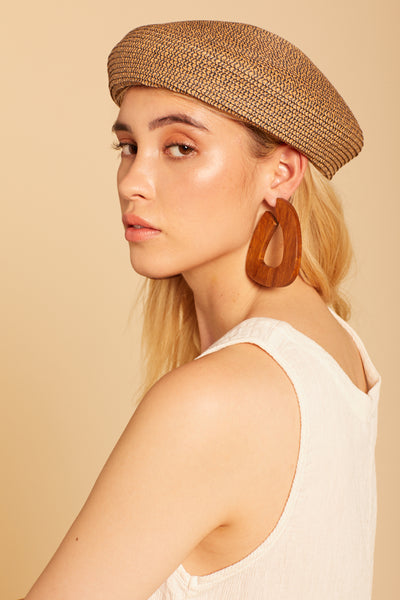 Straw Audrey Beret