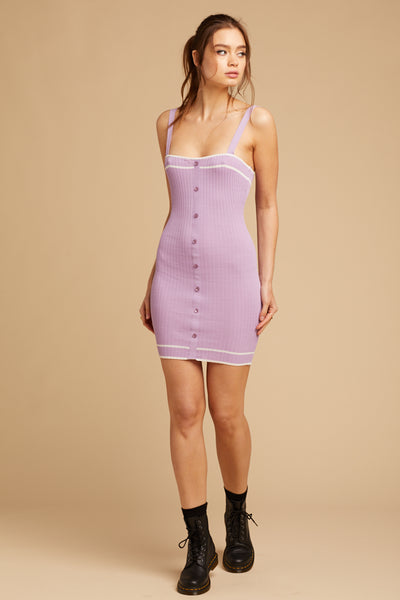 Mini Lavender Sweater Dress