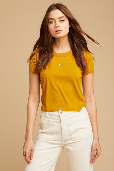 Golden Hemp Crop Tee