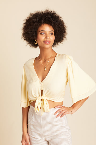 Butter Yellow Lilly Top