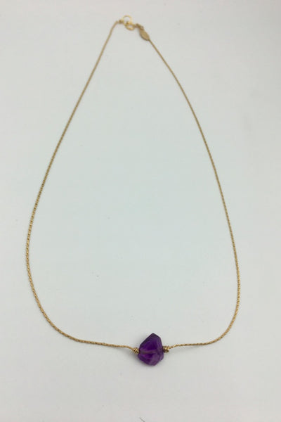 Amethyst Itty Bitty Necklace