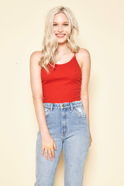 Red Shoestring Camisole