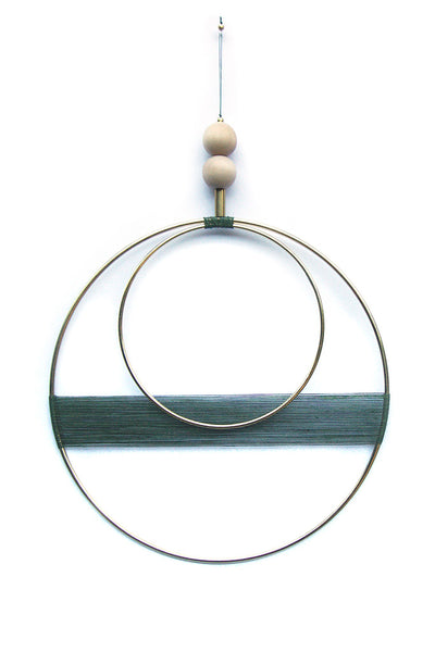 Double Circle Emerald Wall Hanging