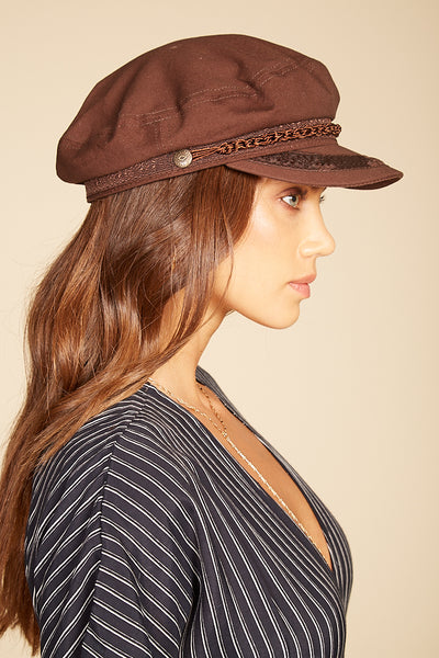 Dark Brown Athens Cap