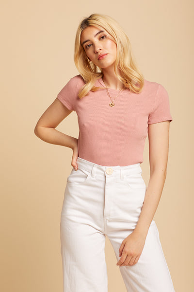 Strawberry Sweater Rib Tee