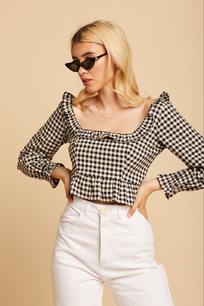 Gingham Tess Top