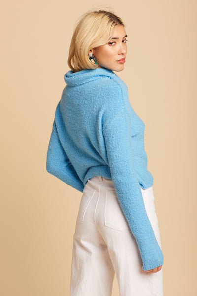 Blue Stormy Sweater