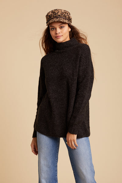 Black Let's Snuggle Sweater