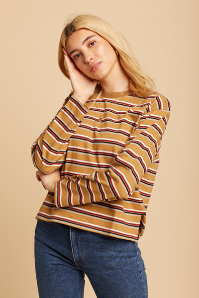 Camel Striped Jane Top